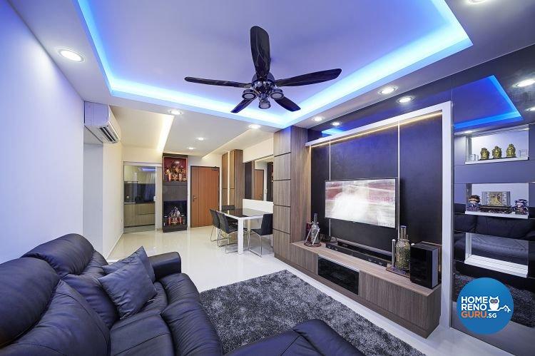 Contemporary, Modern Design - Living Room - HDB 5 Room - Design by Carpenters 匠