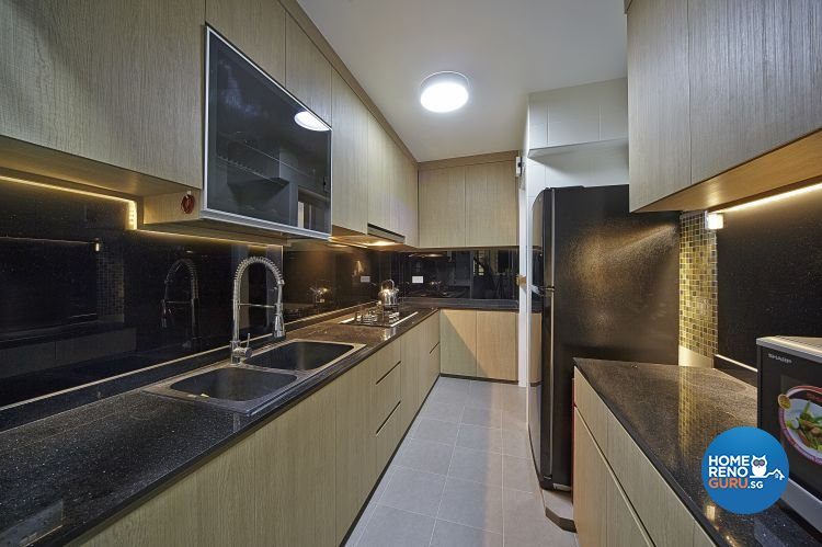 Contemporary, Modern Design - Kitchen - HDB 5 Room - Design by Carpenters 匠