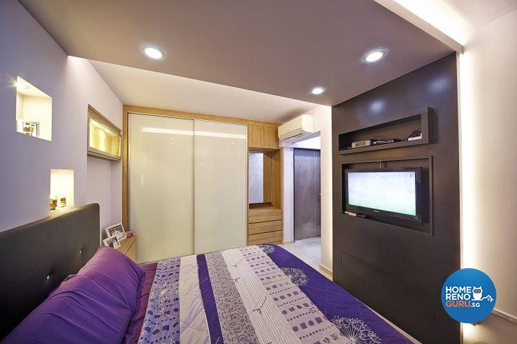 Contemporary, Modern Design - Bedroom - HDB 5 Room - Design by Carpenters 匠