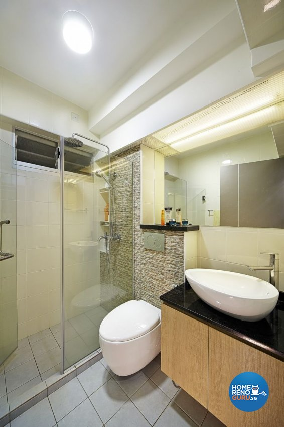 Contemporary, Modern Design - Bathroom - HDB 5 Room - Design by Carpenters 匠
