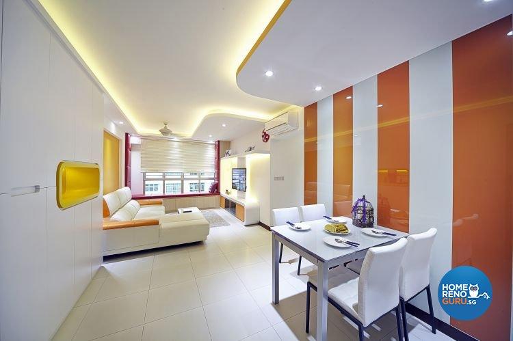 Modern, Retro Design - Dining Room - HDB 5 Room - Design by Carpenters 匠