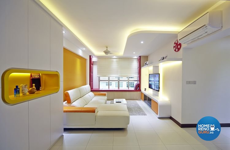 Modern, Retro Design - Living Room - HDB 5 Room - Design by Carpenters 匠
