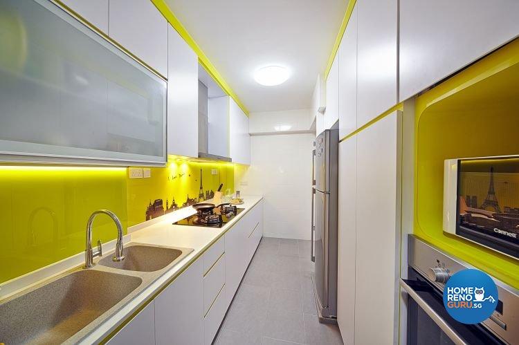 Modern, Retro Design - Kitchen - HDB 5 Room - Design by Carpenters 匠