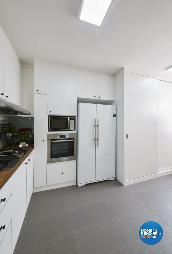 Modern, Scandinavian, Vintage Design - Kitchen - HDB Executive Apartment - Design by Carpenters 匠