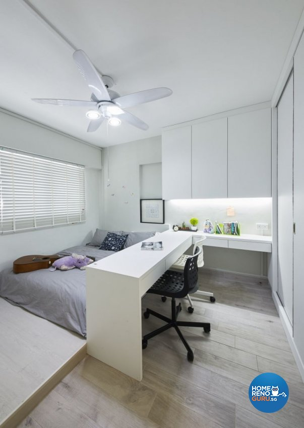 Modern, Scandinavian, Vintage Design - Bedroom - HDB Executive Apartment - Design by Carpenters 匠