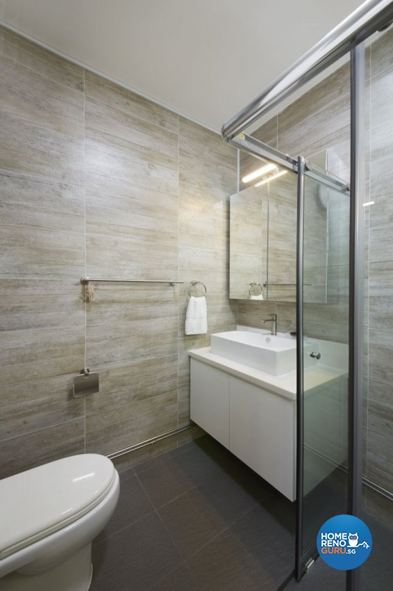 Modern, Scandinavian, Vintage Design - Bathroom - HDB Executive Apartment - Design by Carpenters 匠