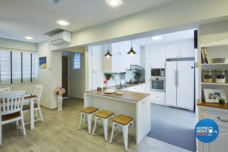 Modern, Scandinavian, Vintage Design - Kitchen - HDB Executive Apartment - Design by Carpenters 匠