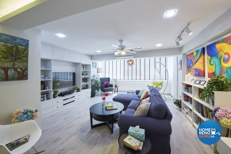 Modern, Scandinavian, Vintage Design - Living Room - HDB Executive Apartment - Design by Carpenters 匠