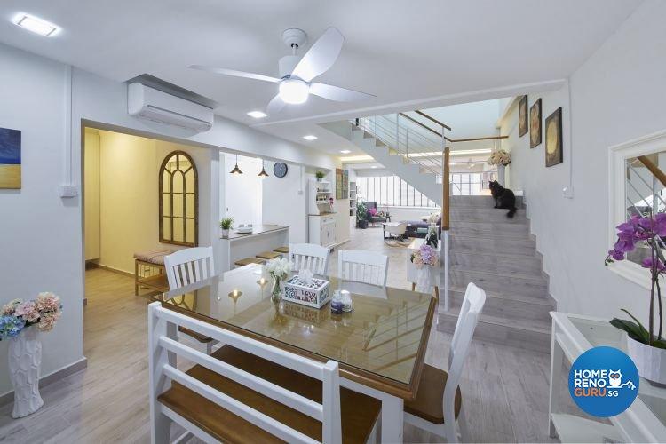 Modern, Scandinavian, Vintage Design - Dining Room - HDB Executive Apartment - Design by Carpenters 匠
