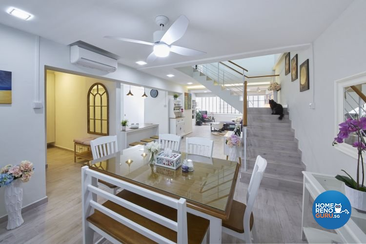 Modern, Scandinavian, Vintage Design - Dining Room - HDB Executive Apartment - Design by Carpenters 匠