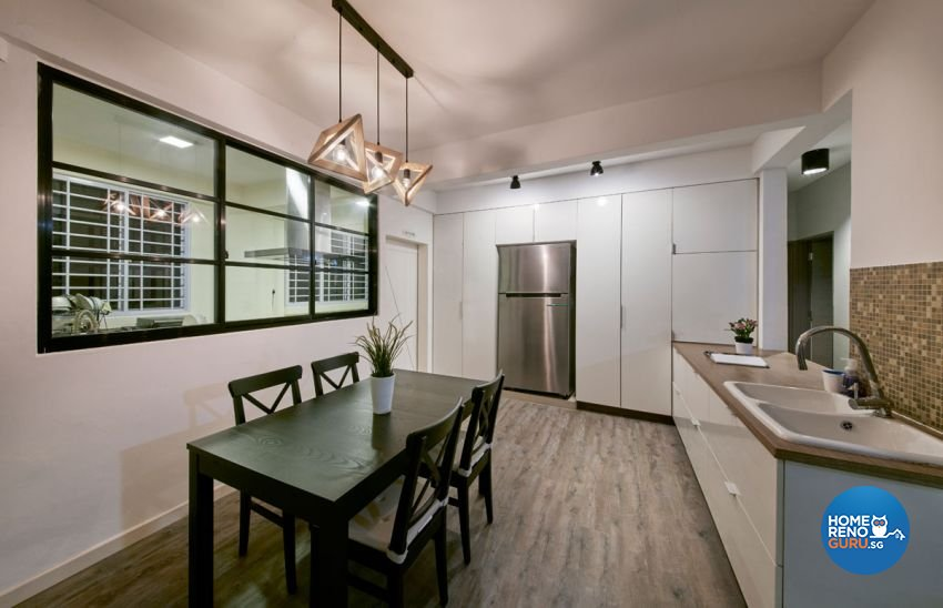 Industrial, Rustic, Scandinavian Design - Dining Room - HDB 4 Room - Design by Carpenters 匠