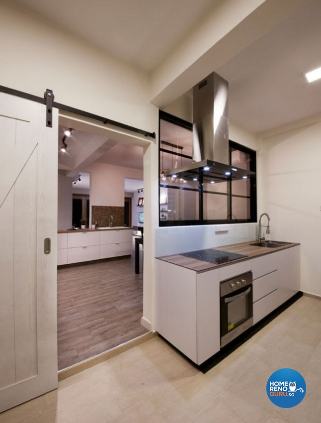 Industrial, Rustic, Scandinavian Design - Kitchen - HDB 4 Room - Design by Carpenters 匠