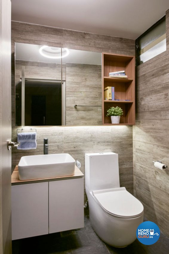 Industrial, Rustic, Scandinavian Design - Bathroom - HDB 4 Room - Design by Carpenters 匠