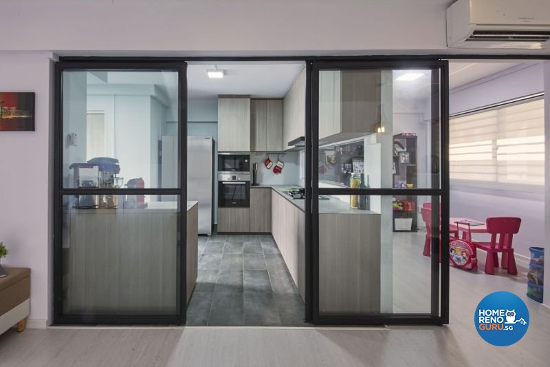 Industrial, Minimalist, Modern Design - Kitchen - HDB Executive Apartment - Design by Carpenters 匠