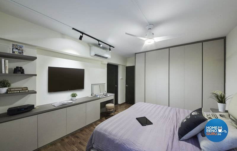 Industrial, Minimalist, Modern Design - Bedroom - HDB Executive Apartment - Design by Carpenters 匠