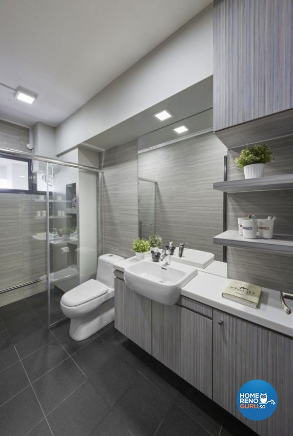 Industrial, Minimalist, Modern Design - Bathroom - HDB Executive Apartment - Design by Carpenters 匠