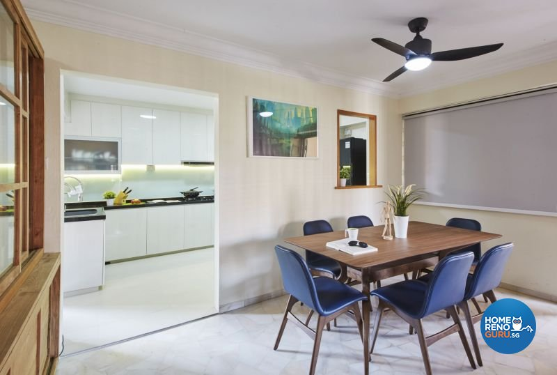 Contemporary, Modern, Scandinavian Design - Dining Room - HDB 4 Room - Design by Carpenters 匠