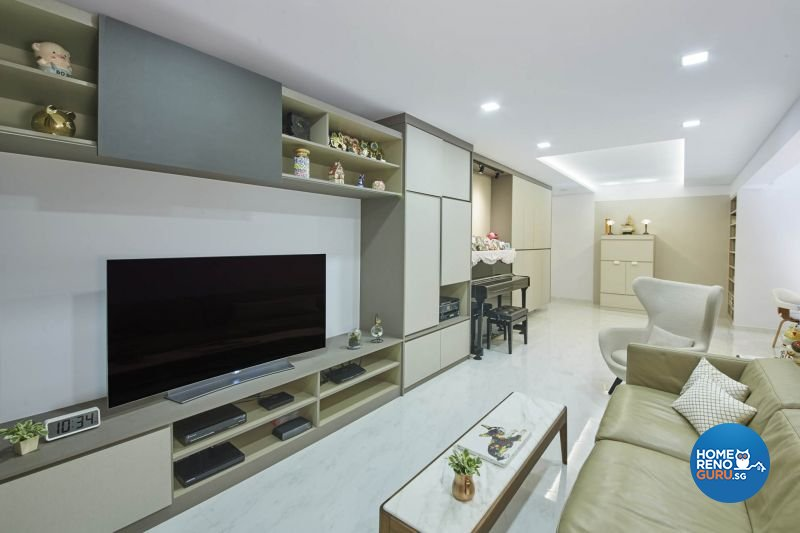 Contemporary, Minimalist, Modern Design - Living Room - HDB 5 Room - Design by Carpenters 匠