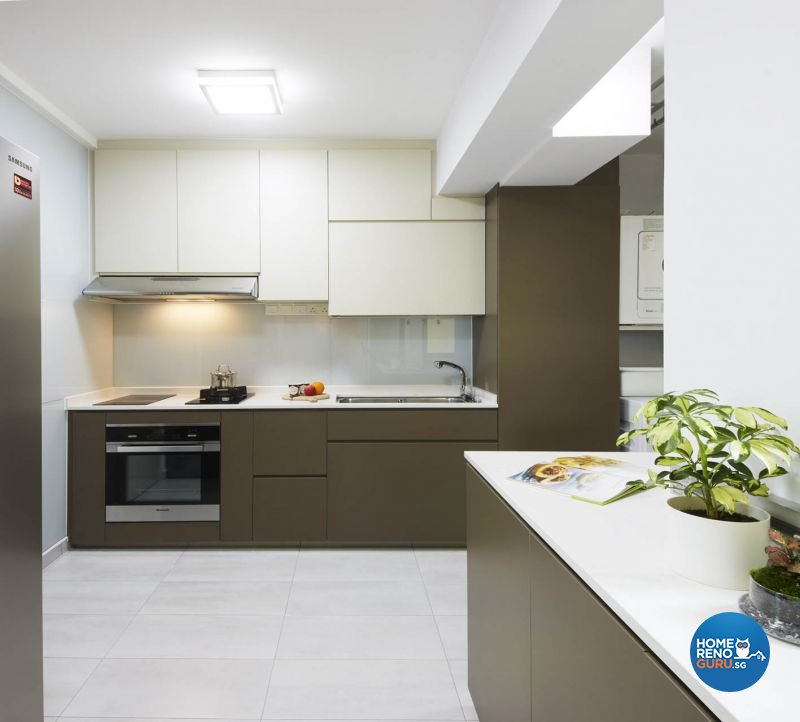 Contemporary, Minimalist, Modern Design - Kitchen - HDB 5 Room - Design by Carpenters 匠