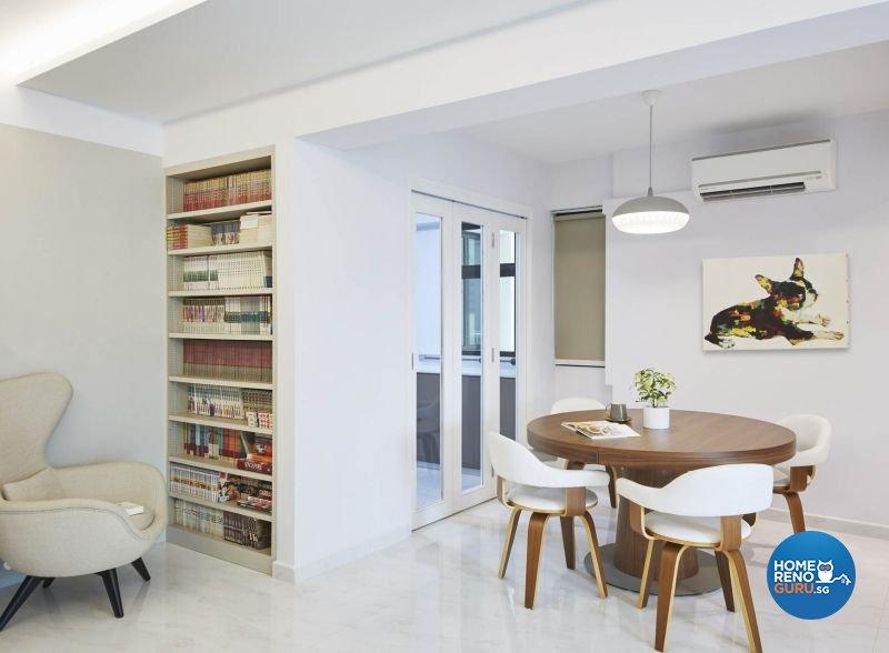 Contemporary, Minimalist, Modern Design - Dining Room - HDB 5 Room - Design by Carpenters 匠