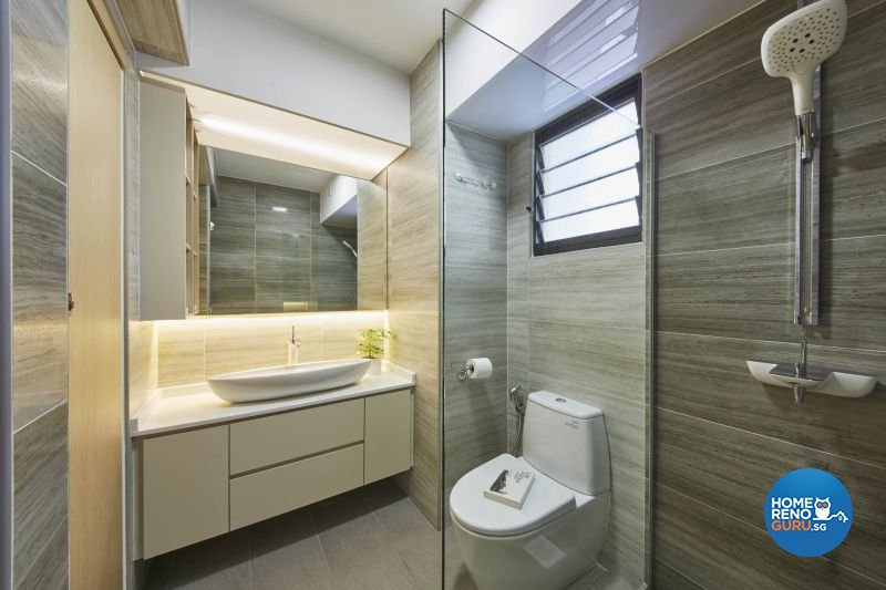 Contemporary, Minimalist, Modern Design - Bathroom - HDB 5 Room - Design by Carpenters 匠
