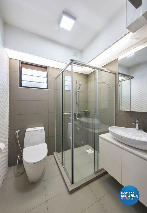 Contemporary, Minimalist, Modern Design - Bathroom - HDB 5 Room - Design by Carpenters 匠