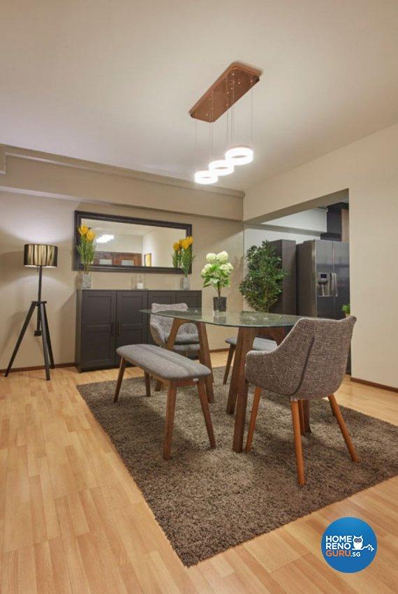 Rustic, Scandinavian Design - Dining Room - HDB 4 Room - Design by Carpenters 匠