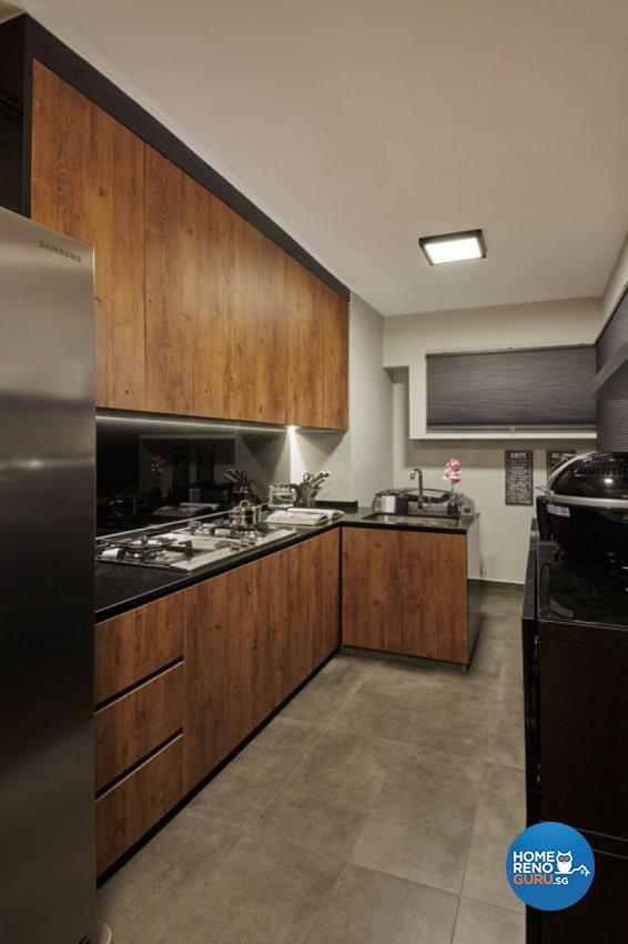 Rustic, Scandinavian Design - Kitchen - HDB 4 Room - Design by Carpenters 匠