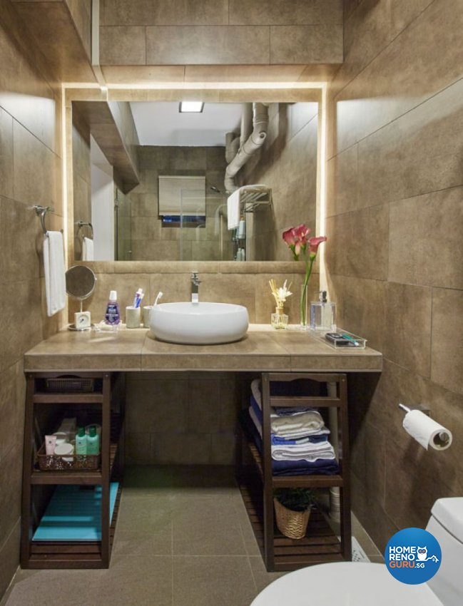 Rustic, Scandinavian Design - Bathroom - HDB 4 Room - Design by Carpenters 匠