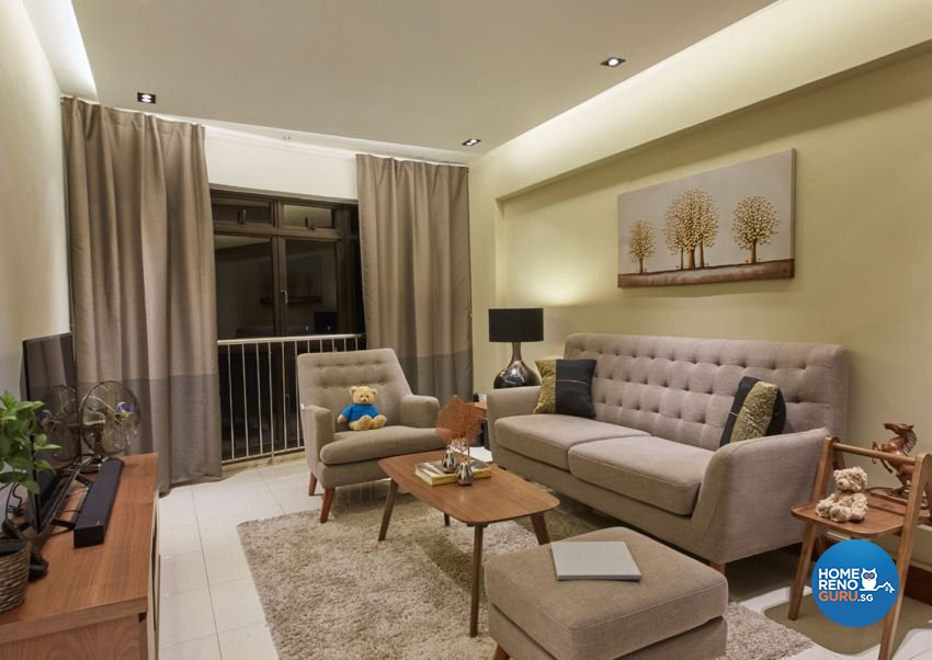 Rustic, Scandinavian Design - Living Room - HDB 4 Room - Design by Carpenters 匠
