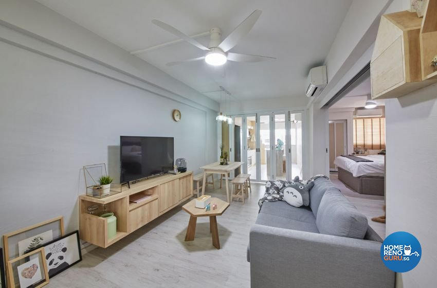 Country, Rustic, Vintage Design - Living Room - HDB 4 Room - Design by Carpenters 匠