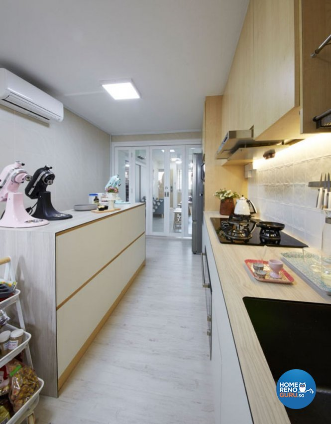 Country, Rustic, Vintage Design - Kitchen - HDB 4 Room - Design by Carpenters 匠