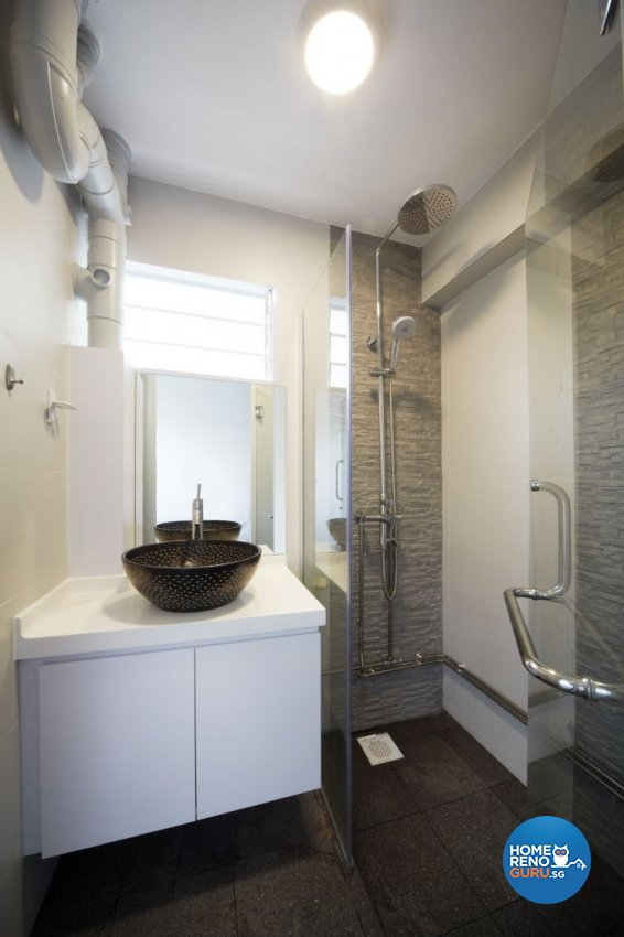 Mediterranean, Resort, Scandinavian Design - Bathroom - HDB 4 Room - Design by Carpenters 匠