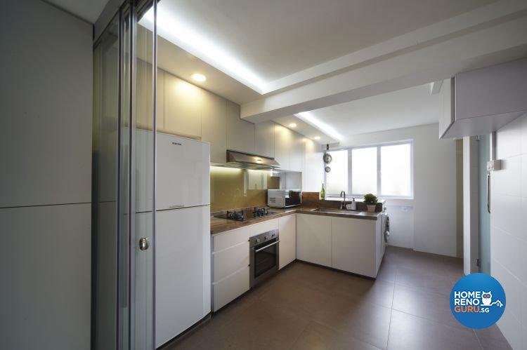 Mediterranean, Resort, Scandinavian Design - Kitchen - HDB 4 Room - Design by Carpenters 匠