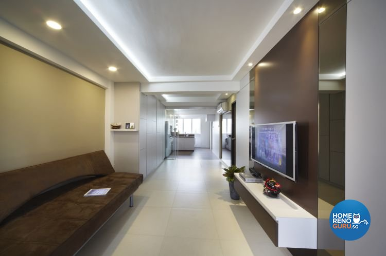 Mediterranean, Resort, Scandinavian Design - Living Room - HDB 4 Room - Design by Carpenters 匠