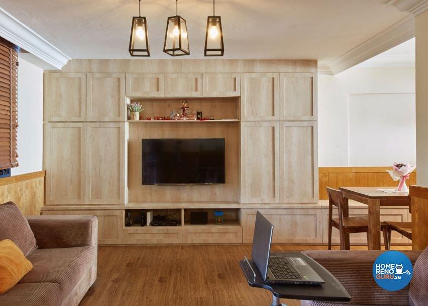 Scandinavian Design - Living Room - HDB 5 Room - Design by Carpenters 匠