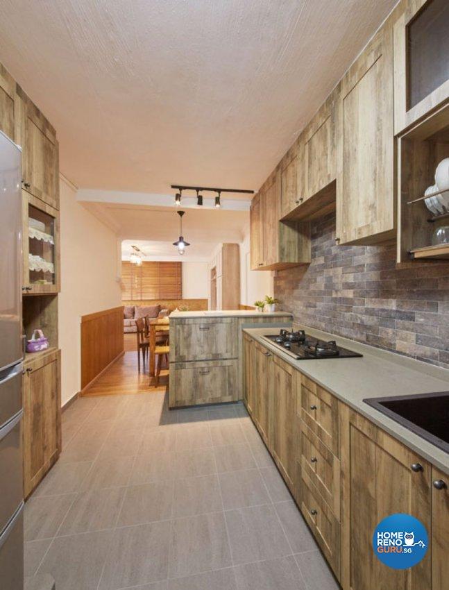 Scandinavian Design - Kitchen - HDB 5 Room - Design by Carpenters 匠