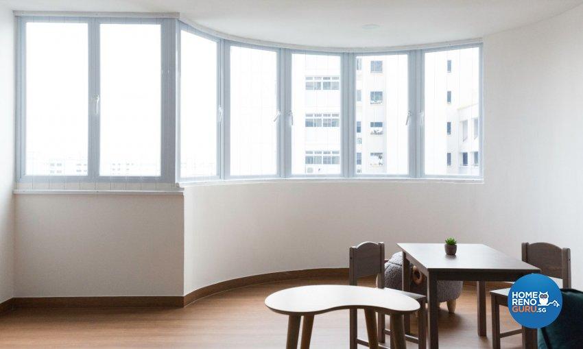 Minimalist, Modern Design - Balcony - HDB 5 Room - Design by Carpenters 匠