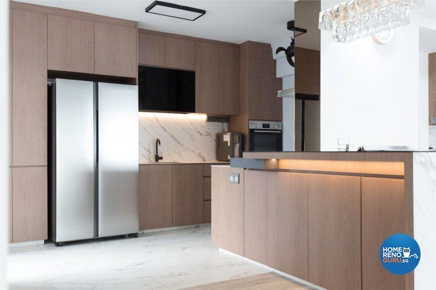 Minimalist, Modern Design - Kitchen - HDB 5 Room - Design by Carpenters 匠