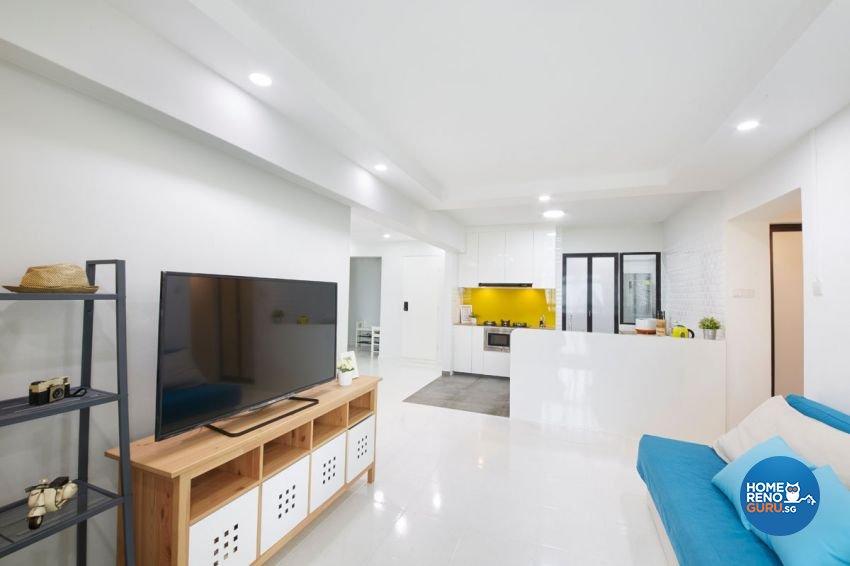 Minimalist, Modern, Scandinavian Design - Living Room - HDB 4 Room - Design by Carpenters 匠