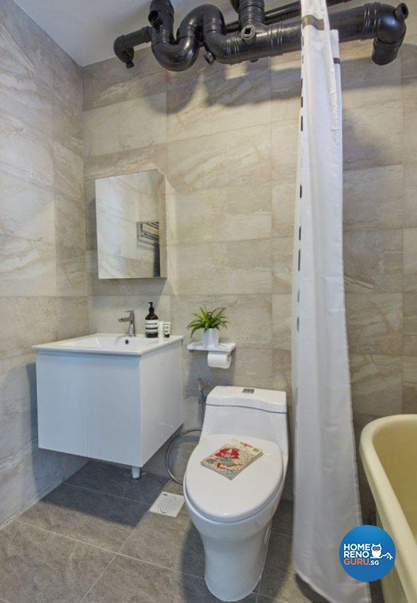 Minimalist, Modern, Scandinavian Design - Bathroom - HDB 4 Room - Design by Carpenters 匠