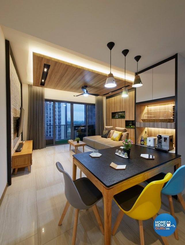 Industrial, Modern Design - Dining Room - Condominium - Design by Carpenters 匠