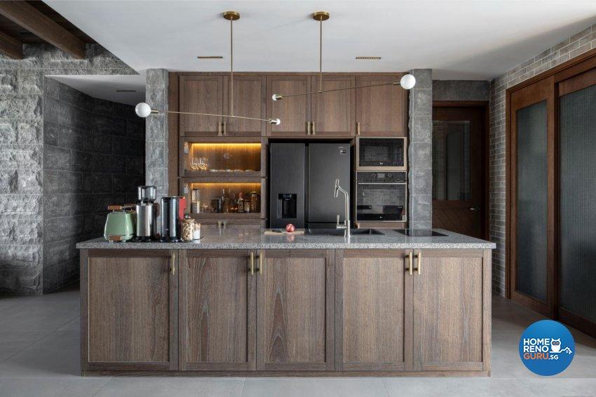 Country Design - Kitchen - Condominium - Design by Carpenters 匠