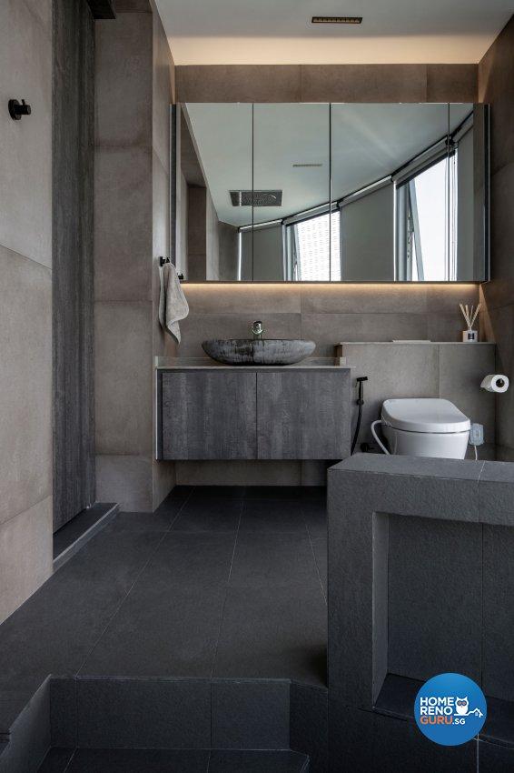 Country Design - Bathroom - Condominium - Design by Carpenters 匠