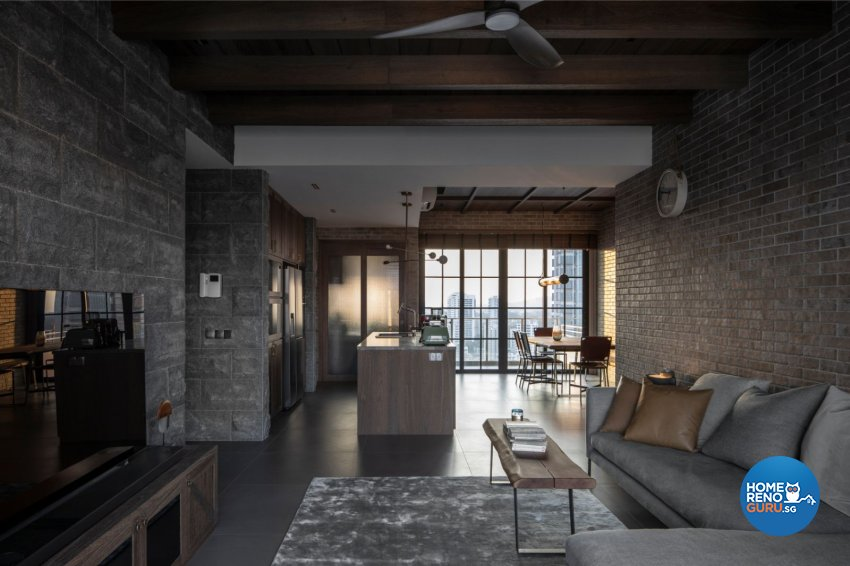 Country Design - Living Room - Condominium - Design by Carpenters 匠