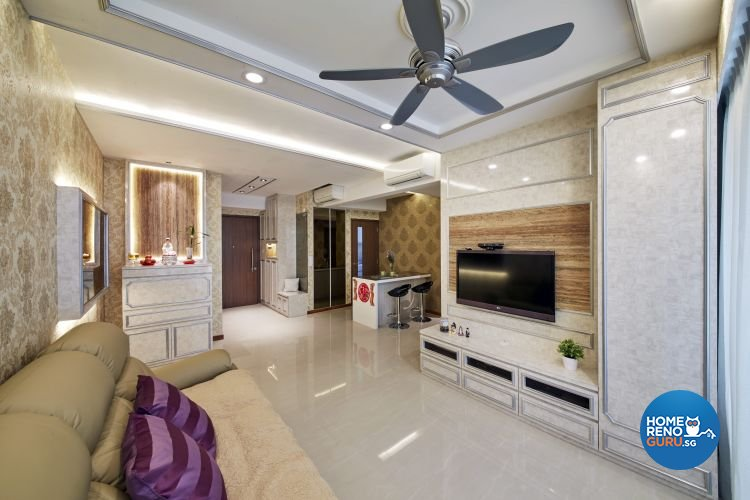 Classical, Victorian Design - Living Room - Condominium - Design by Carpenters 匠
