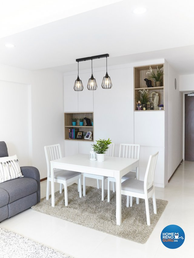 Minimalist, Modern, Scandinavian Design - Dining Room - HDB 4 Room - Design by Carpenters 匠