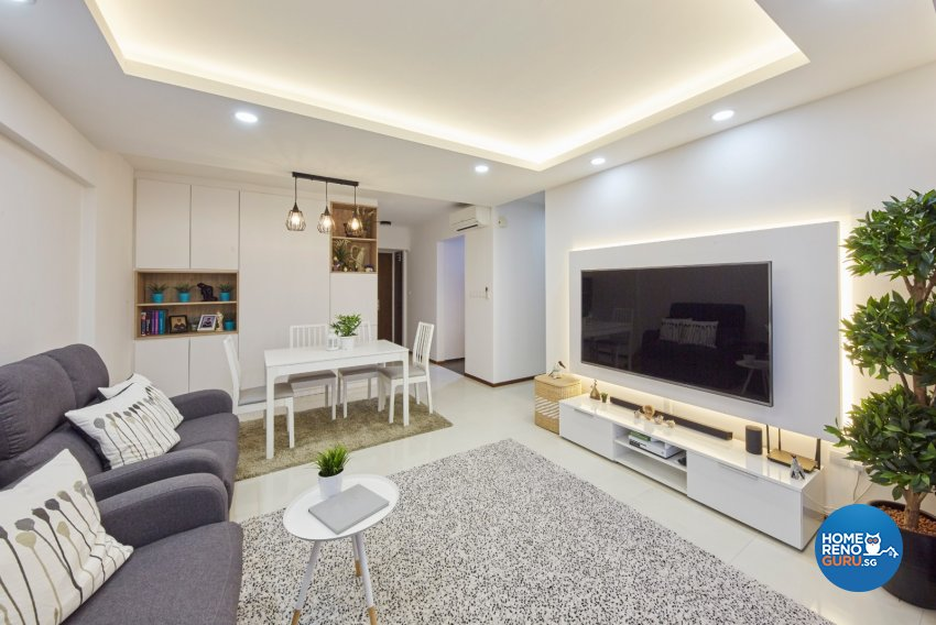 Minimalist, Modern, Scandinavian Design - Living Room - HDB 4 Room - Design by Carpenters 匠