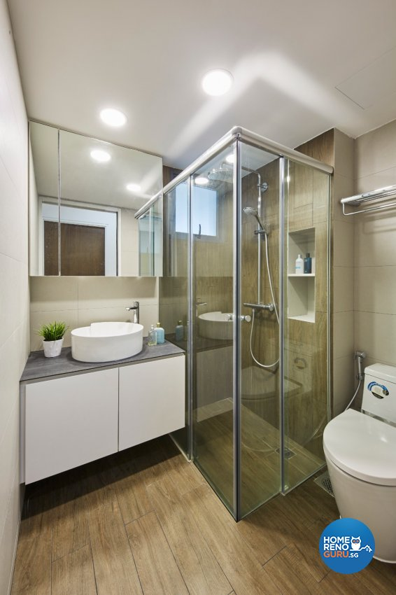 Minimalist, Modern, Scandinavian Design - Bathroom - HDB 4 Room - Design by Carpenters 匠