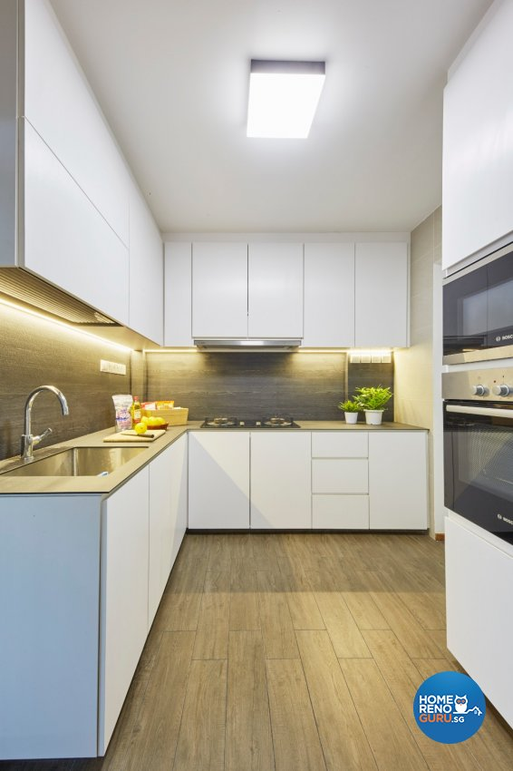 Minimalist, Modern, Scandinavian Design - Kitchen - HDB 4 Room - Design by Carpenters 匠